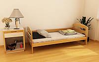 """Кровать детская подростковая """"Вінні"""" 80*190/200 размеры дерево массив бук, фото 1"""