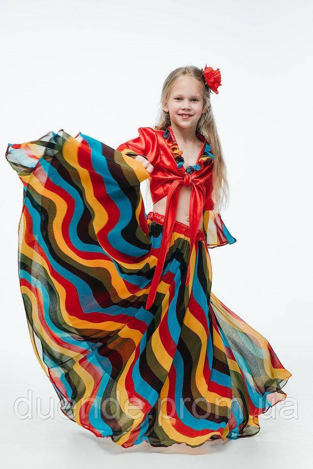 Цыганский национальный костюм для девочки \ размер 110-116; 122-128; 134-140; 146 \ BL - ДН15