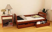 """Кровать детская подростковая """"Вінні"""" 90*190/200 размеры дерево массив бук, фото 1"""