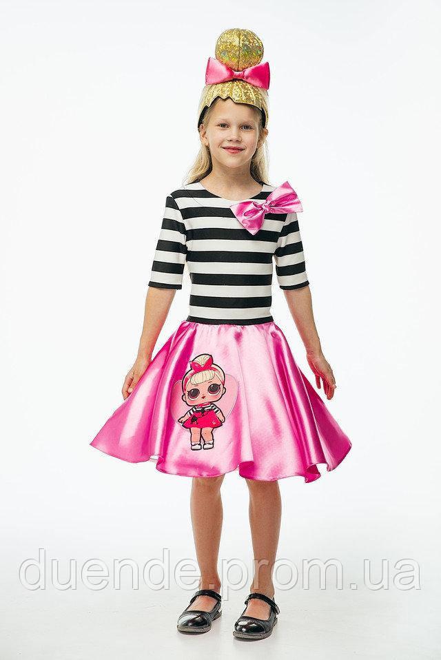 Кукла LOL Леди Свинг карнавальный костюм для девочки - размер 122-128 \ BL - ДС207