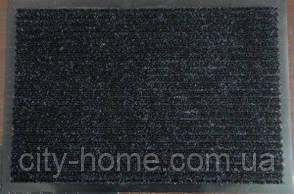 Коврик грязезащитный влаговпитывающий 60 х 90 черный, фото 2