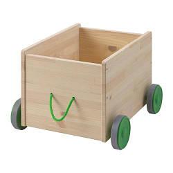 ИКЕА (IKEA) ФЛИСАТ, 102.984.20, Контейнер д/игрушек, с колесиками