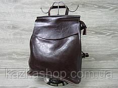 Женский рюкзак из натуральной кожи, 1 отдел на молнии, клапан, регулируемый ремень