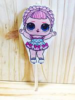 Свеча большая (7см) ручной работы в торт - Куклы ЛОЛ с косой / Кукла LOL (большая)