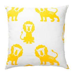 ИКЕА (IKEA) DJUNGELSKOG, 603.937.40, Подушка, лев, желтый, 50x50 см