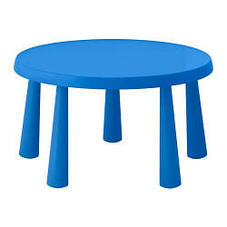 ИКЕА (IKEA) МАММУТ, 903.651.80, Стол детский, д/дома/улицы синий, 85 см