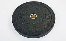 Блины (диски) проф. Бампер структурные с метал. втулкой отв. d-51мм RAGGY 10кг (резина)