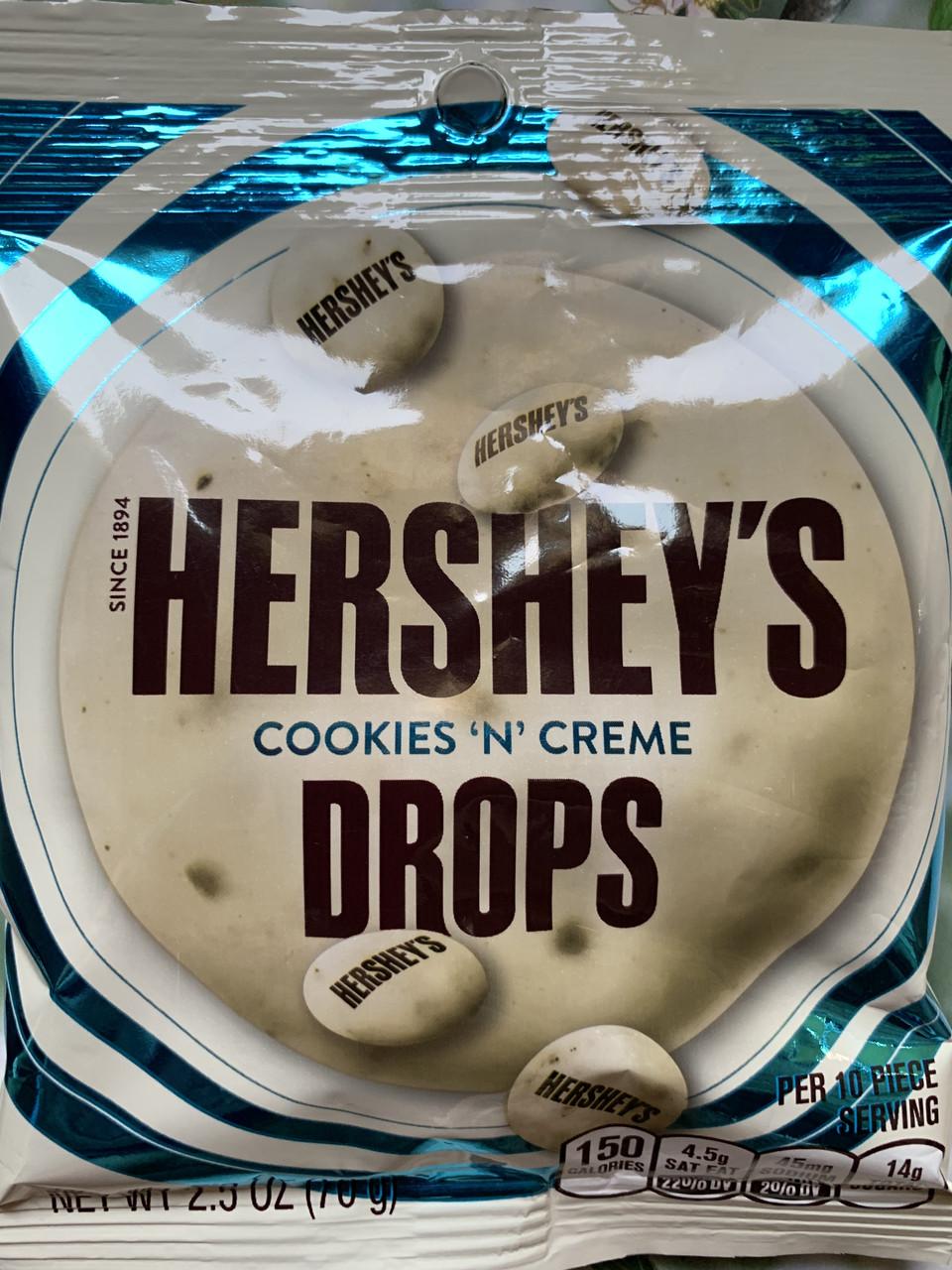 Шоколадные конфеты Hershey's Drops белый шоколад с печеньем