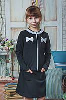 Школьная форма для девочки юбка+жакет черная