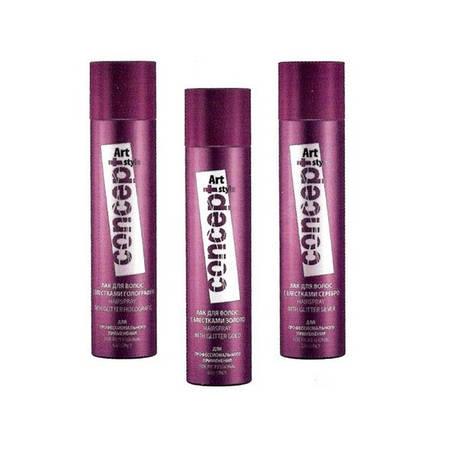 Лак для волос с блестками Concept (3 цвета) 75 мл.