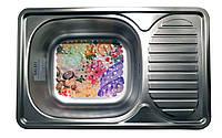 Кухонная мойка из нержавейки прямоугольная с ковриком (66*42*18 см) Galati Mirela Satin 7135
