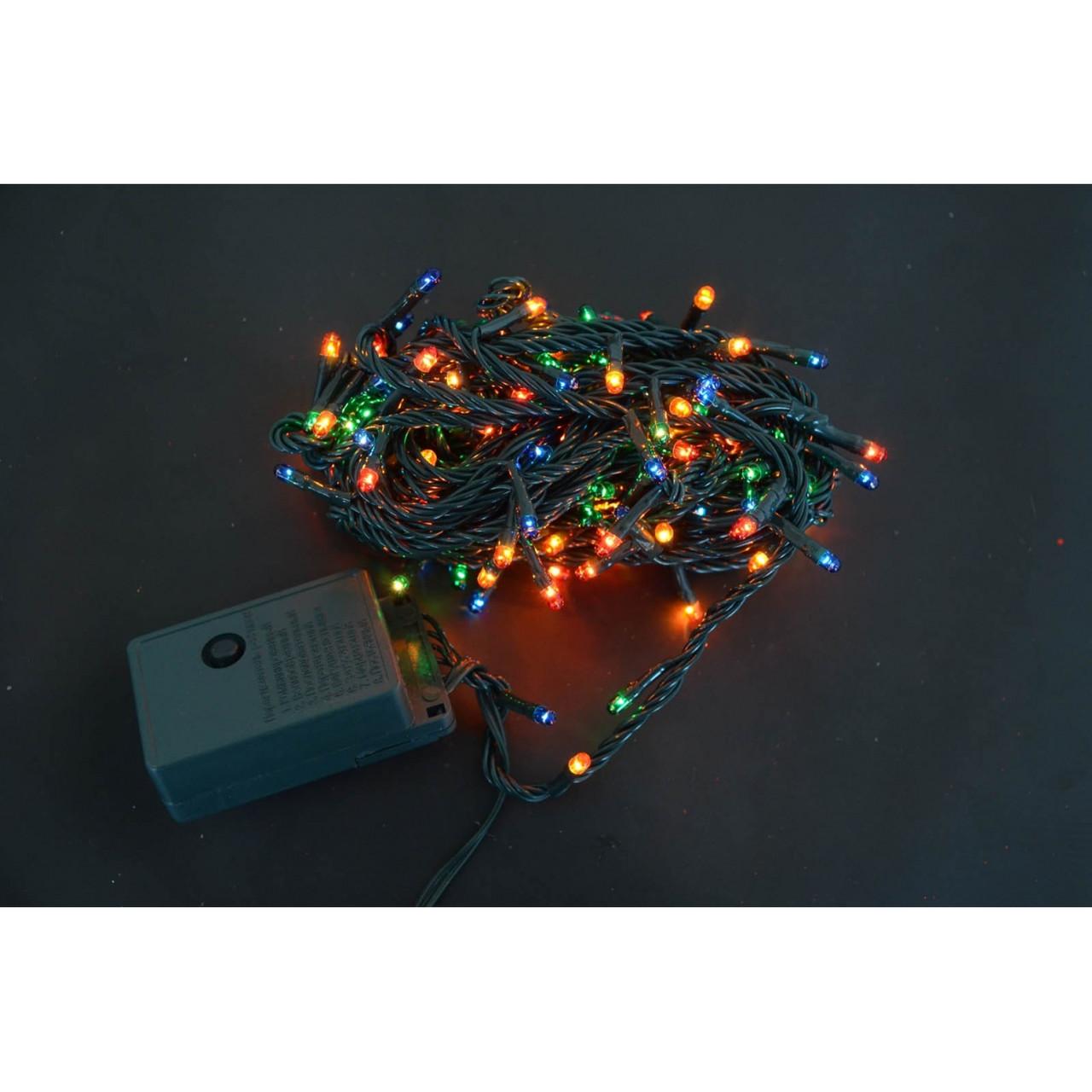 Електрогірлянди Yes! Fun, 160 мікроламп ламп, багатобарвна, 8 м., 8 реж.міганія, зел.прово