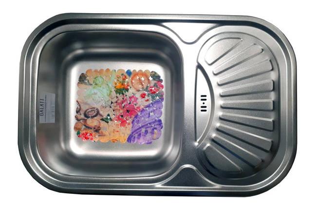 Мойка кухонная матовая (75*49*18 см) Galati Stelă Textură 8476, фото 2