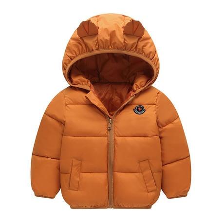 Куртка детская демисезонная коричневая  с ушками осень-весна  на 1-5 лет