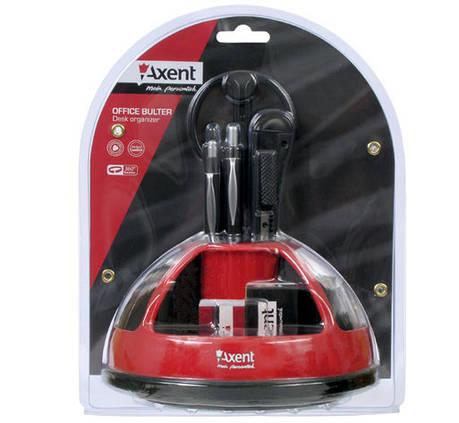 Набор настольный Axent 2104-04-0601 Duoton красный (9 предметов), фото 2
