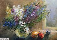 Картина Полевые цветы - поцелуй солнца