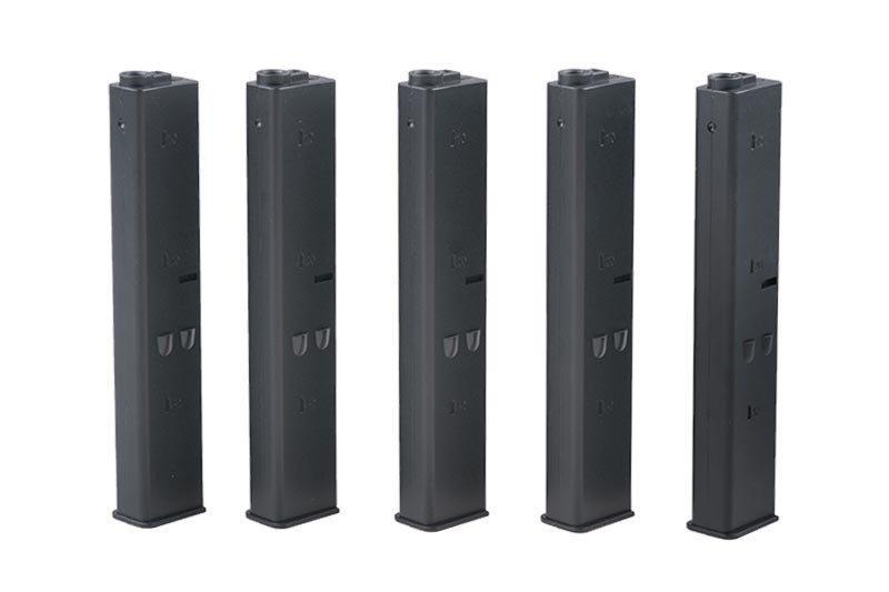 Zestaw 5 magazynków 9mm do replik typu AR-15 - czarny [ARES]
