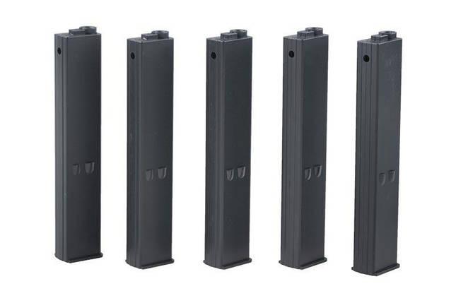 Zestaw 5 magazynków 9mm do replik typu AR-15 - czarny [ARES], фото 2