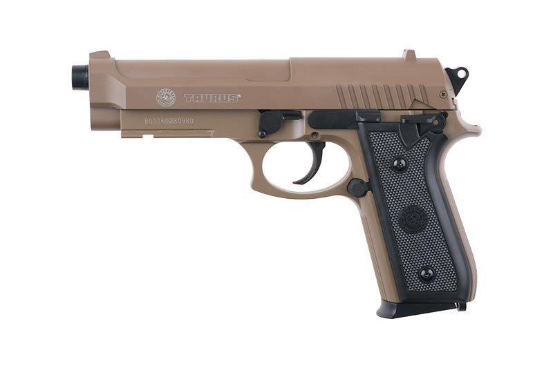 Replika sprężynowa pistoletu TAURUS PT92 - tan [CyberGun]