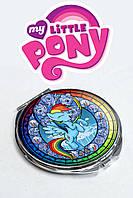 Карманное зеркало My Little Pony с изображением Рейнбоу Деш