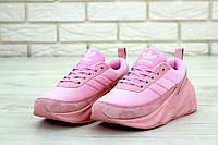Популярные мужские кроссовки Адидас Sharks (реплика) розовые