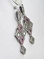 Серебряные серьги-висюльки Евгения, фото 1