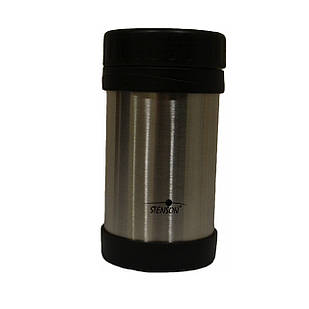 Термос Stenson Steel MT-2674 для еды 500 мл Серебристый с черным (008042)
