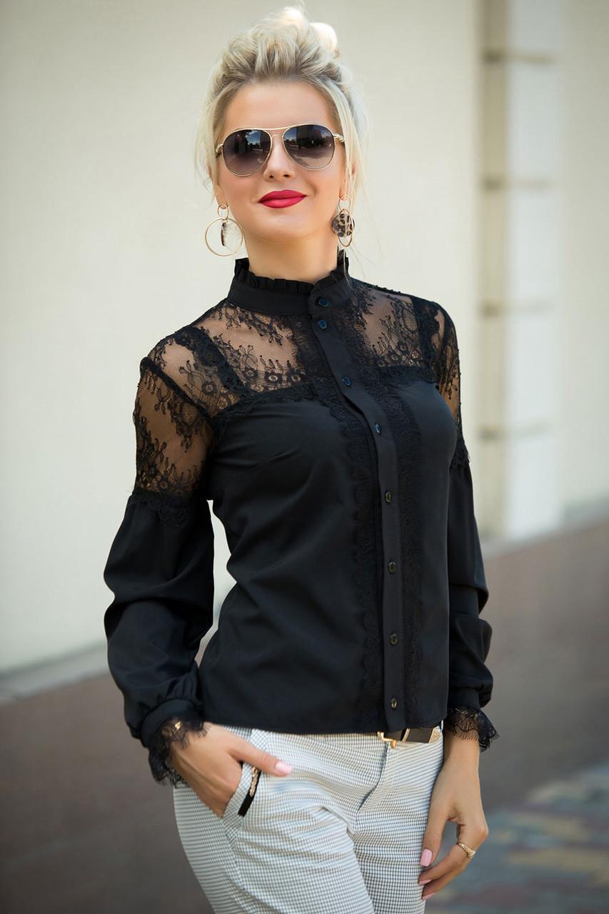 Нарядная черная Блузка