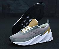 Мужские кроссовки Adidas Sharks Brown Grey White (ТОП реплика)