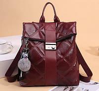 Молодежный городской рюкзак из кожзама Roll-top