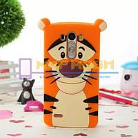 Чехол-бампер силиконовый LG G4 H810 H811 H815 H818 Тигр