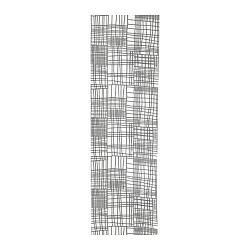 ИКЕА (IKEA) AKVELINA, 104.245.55, Узкая гардина, белый, серый, 60x300 см