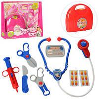 Детский набор доктора детский 5678-5678-1 8 предметів, Bambi