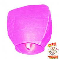 Небесный фонарик розовый купол