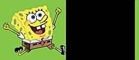 Меловая наклейка Губка Боб . Грифельная школьная доска для рисования мелом.