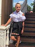 Школьная блузка рубашка 128-140 см, фото 7