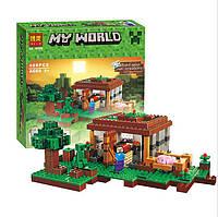 """Конструктор Bela 10176 (Аналог Lego Minecraft 21115) """"Первая Ночь"""" 408 деталей, фото 1"""