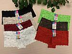 Жіночі мереживні труси шортиками, фото 2