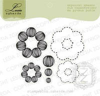 Набор штампов Цветы с контурами, 7шт, FL100