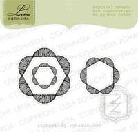Набор штампов Цветы-шестиугольники, 3шт, FL102
