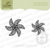 Набор штампов Цветы-ветрячки, 2шт, FL103