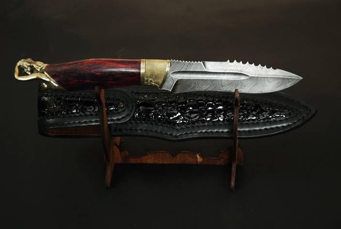 """Нож охотничий ручной работы """"From dusk to dawn"""", из дамаска и карельской берёзы, фото 2"""