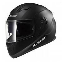 Мотошлем с очками LS2 FF320 Stream Solid Black Gloss, размер M