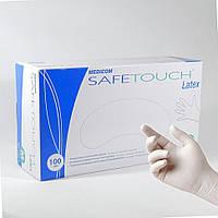 Перчатки латексные Medicom нестерильные опудренные SafeTouch E-Series (размер M) 50 пар