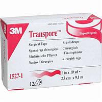 Пластырь на основе перфорированного пластика 3M™ Transpore™, (2,5см х 9,14м.)