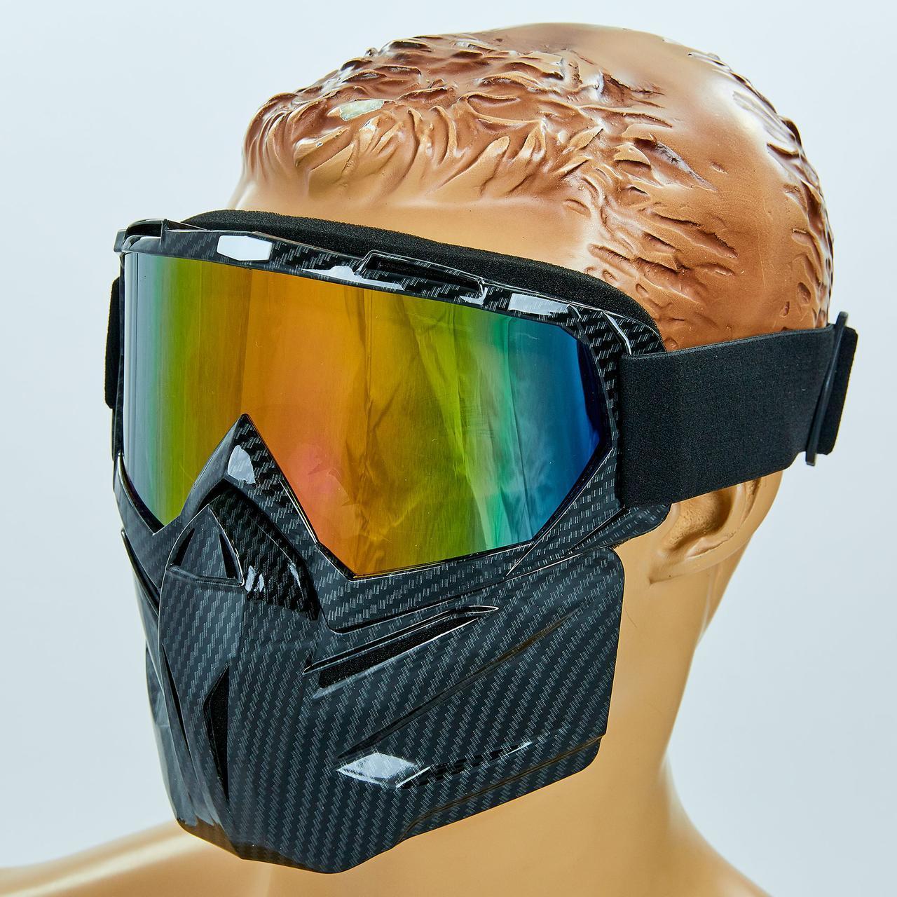 Мотоочки маска защитная пол-лица 307