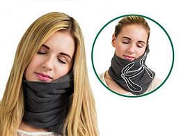 Подушка-шарф для путешествий Travel Pillow, черная (50710002)