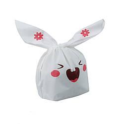 Подарочный пакет с ушками 10 шт. зайчик, розовый (54760001)