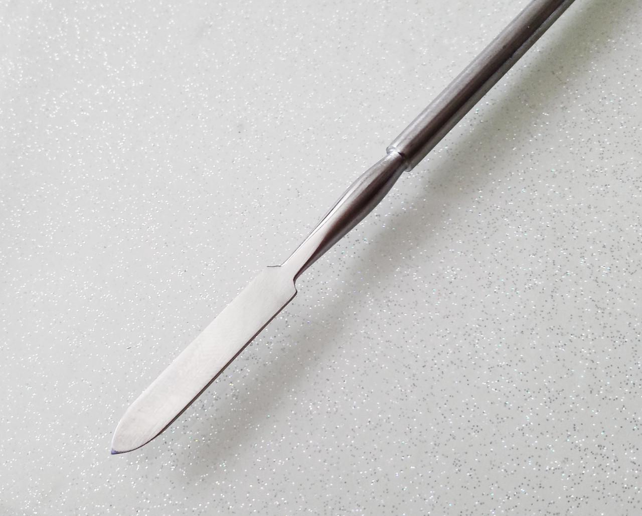 Инструмент металл для тонкой лепки, стоматологии, лопатка, нержавейка, 2-стор.