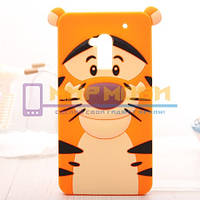 Чехол-бампер силиконовый HTC One Max Тигр